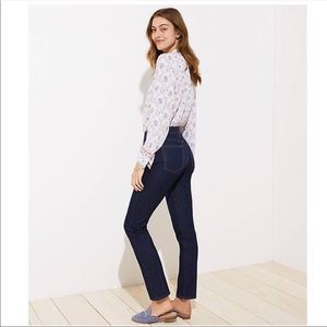 LOFT Modern Straight Dark Wash Jeans Size 10P
